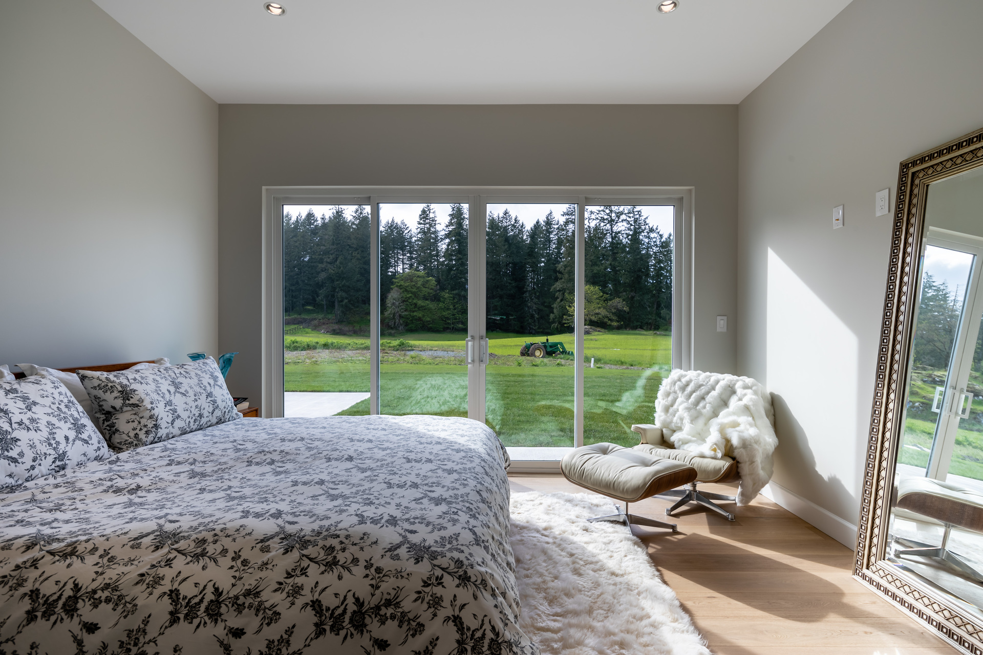 Guest Bedroom With Walkout Patio at 5100 & 5101 Jagtar's Way, Prospect Lake, Saanich West