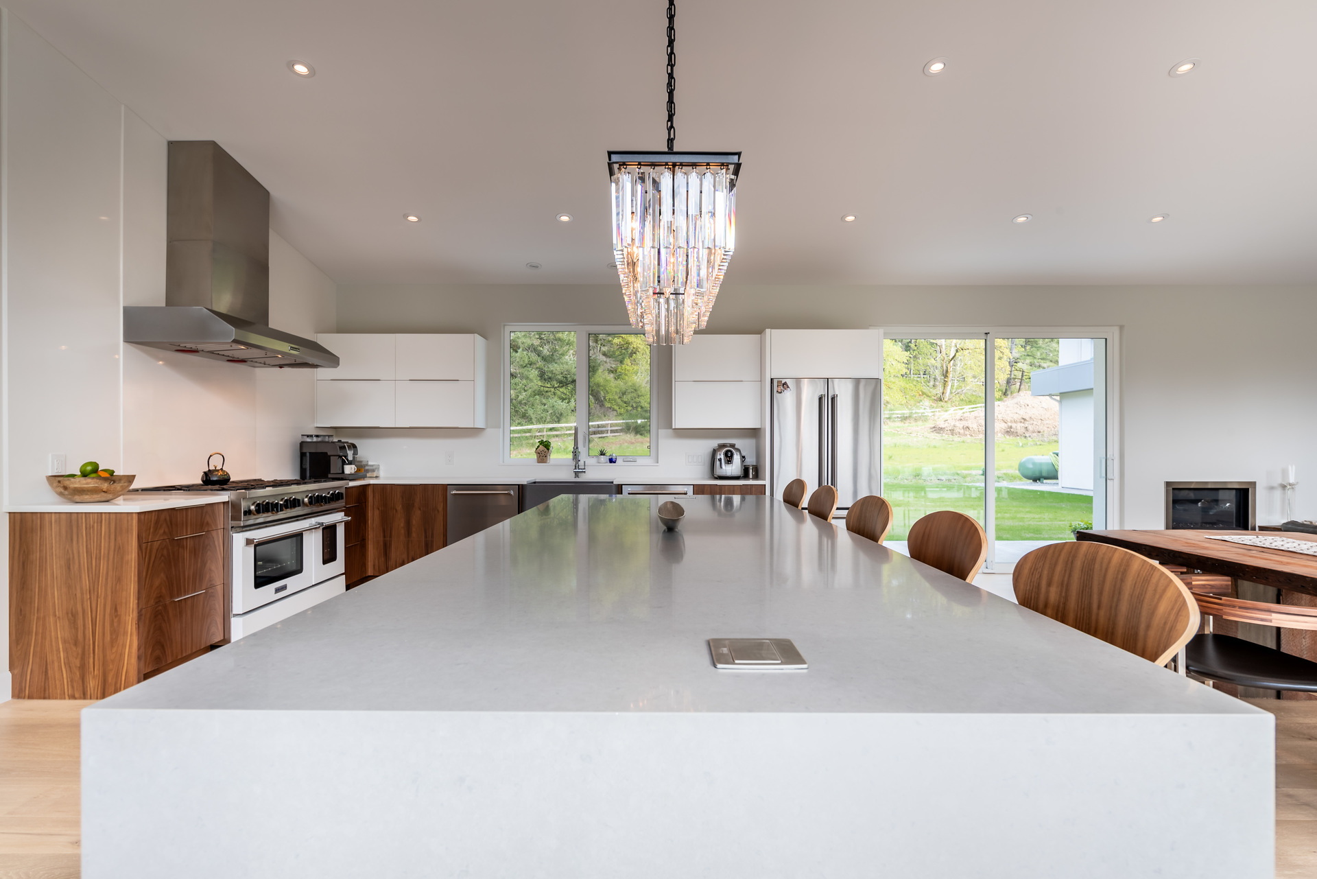 Eat-In Kitchen With Breakfast Bar at 5100 & 5101 Jagtar's Way, Prospect Lake, Saanich West