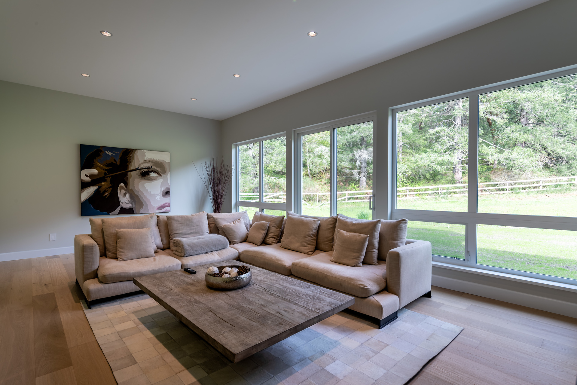 The Media Room With South East-Facing Windows at 5100 & 5101 Jagtar's Way, Prospect Lake, Saanich West