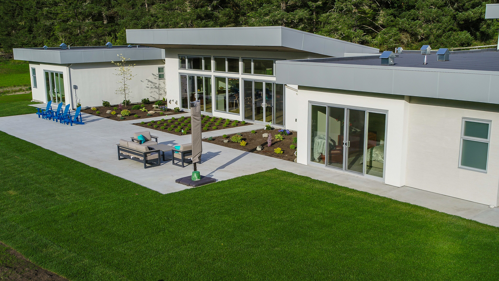 Massive Patio Space at 5100 & 5101 Jagtar's Way, Prospect Lake, Saanich West