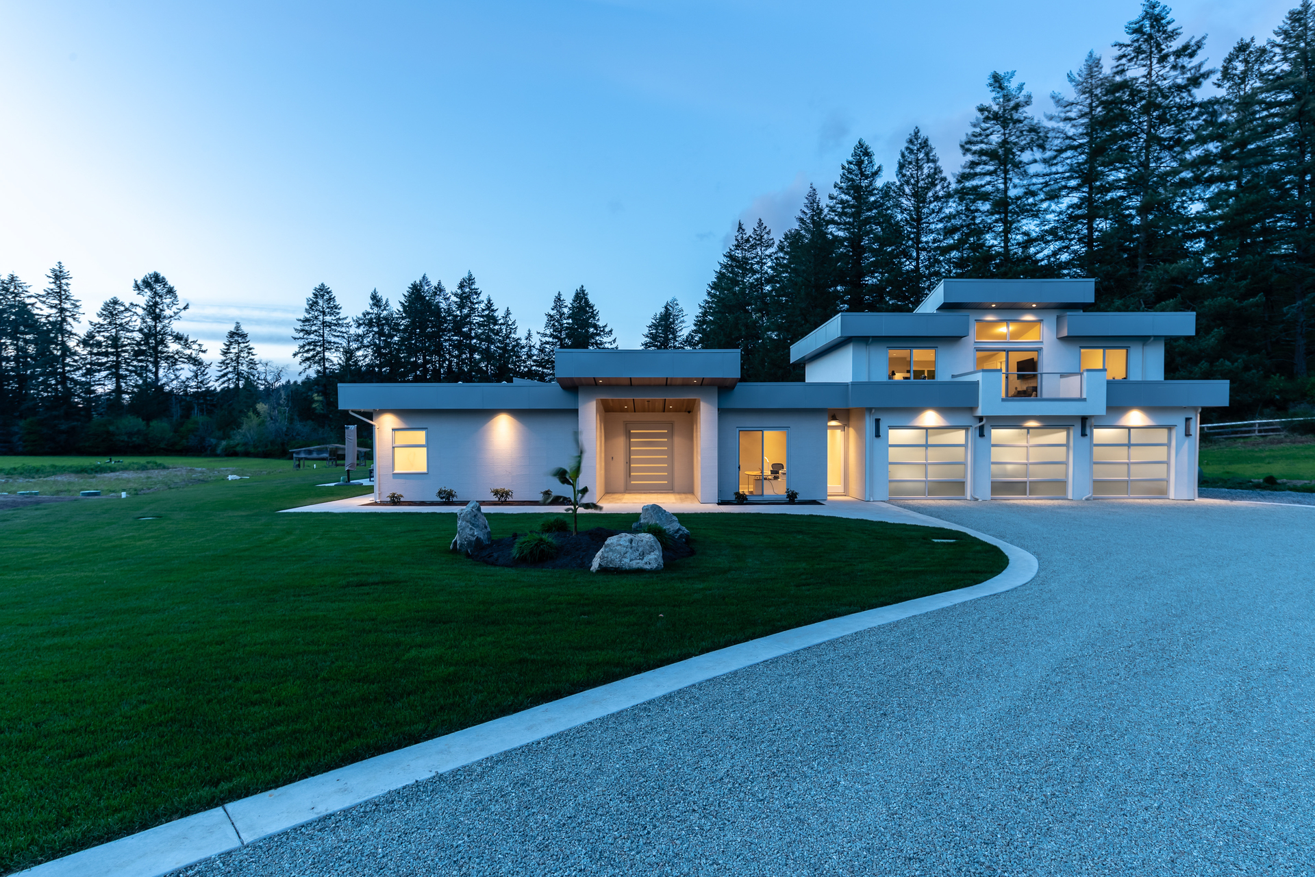 Expansive Driveways at 5100 & 5101 Jagtar's Way, Prospect Lake, Saanich West