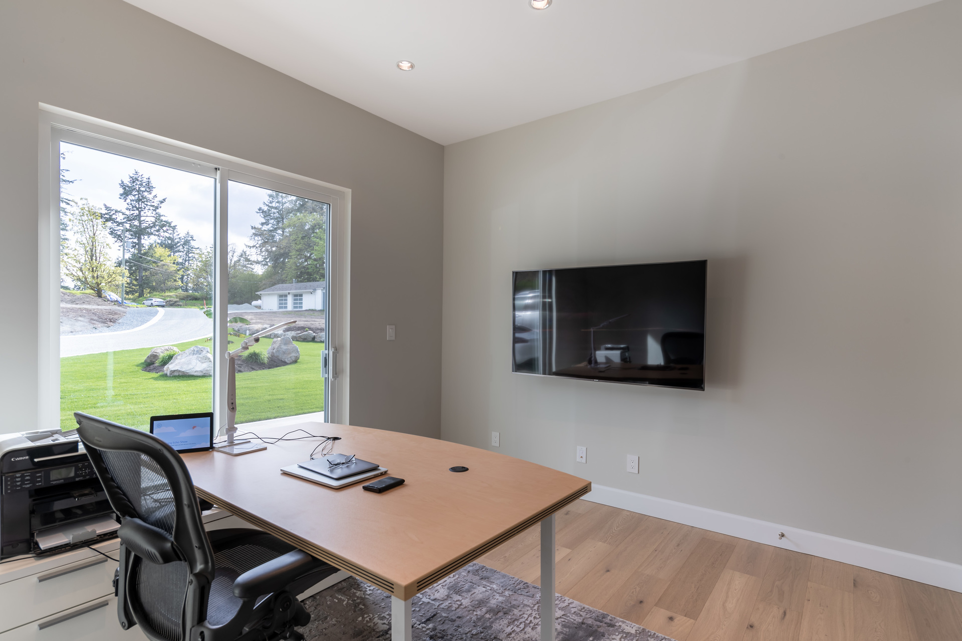 Front Office With Sliding Door Walkout at 5100 & 5101 Jagtar's Way, Prospect Lake, Saanich West