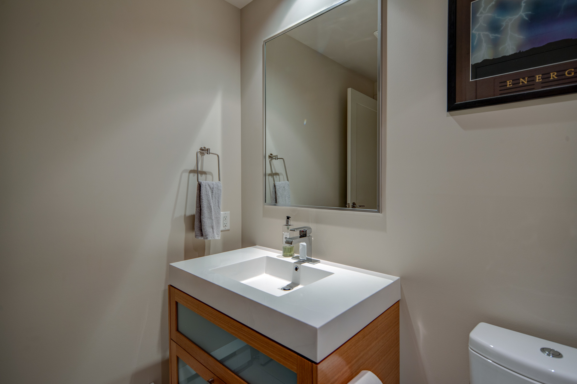 2-Piece Guest Bathroom With Washer & Dryer at 115 - 365 Waterfront Crescent, Rock Bay, Victoria
