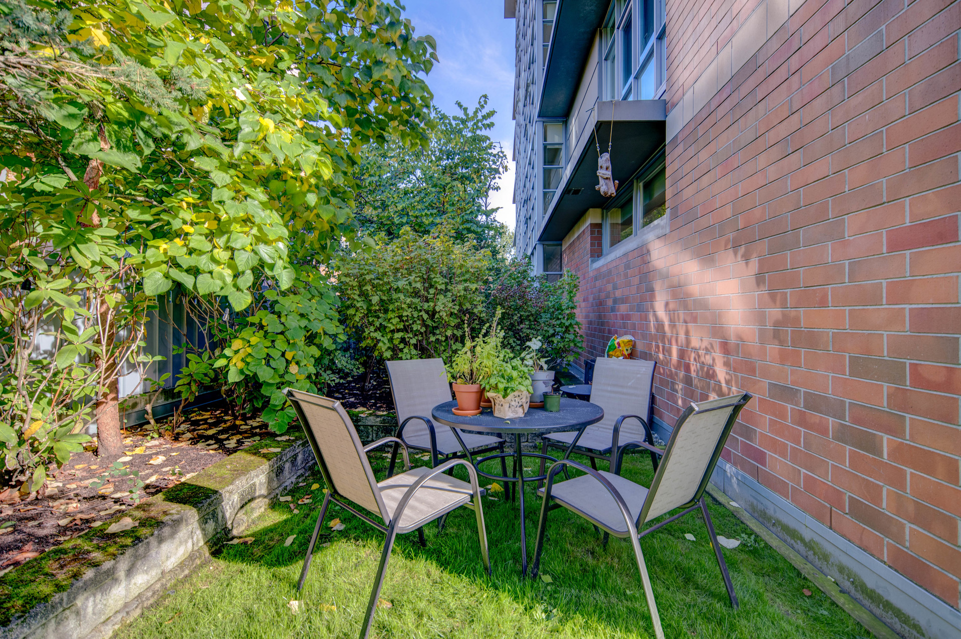 Private Courtyard at 115 - 365 Waterfront Crescent, Rock Bay, Victoria
