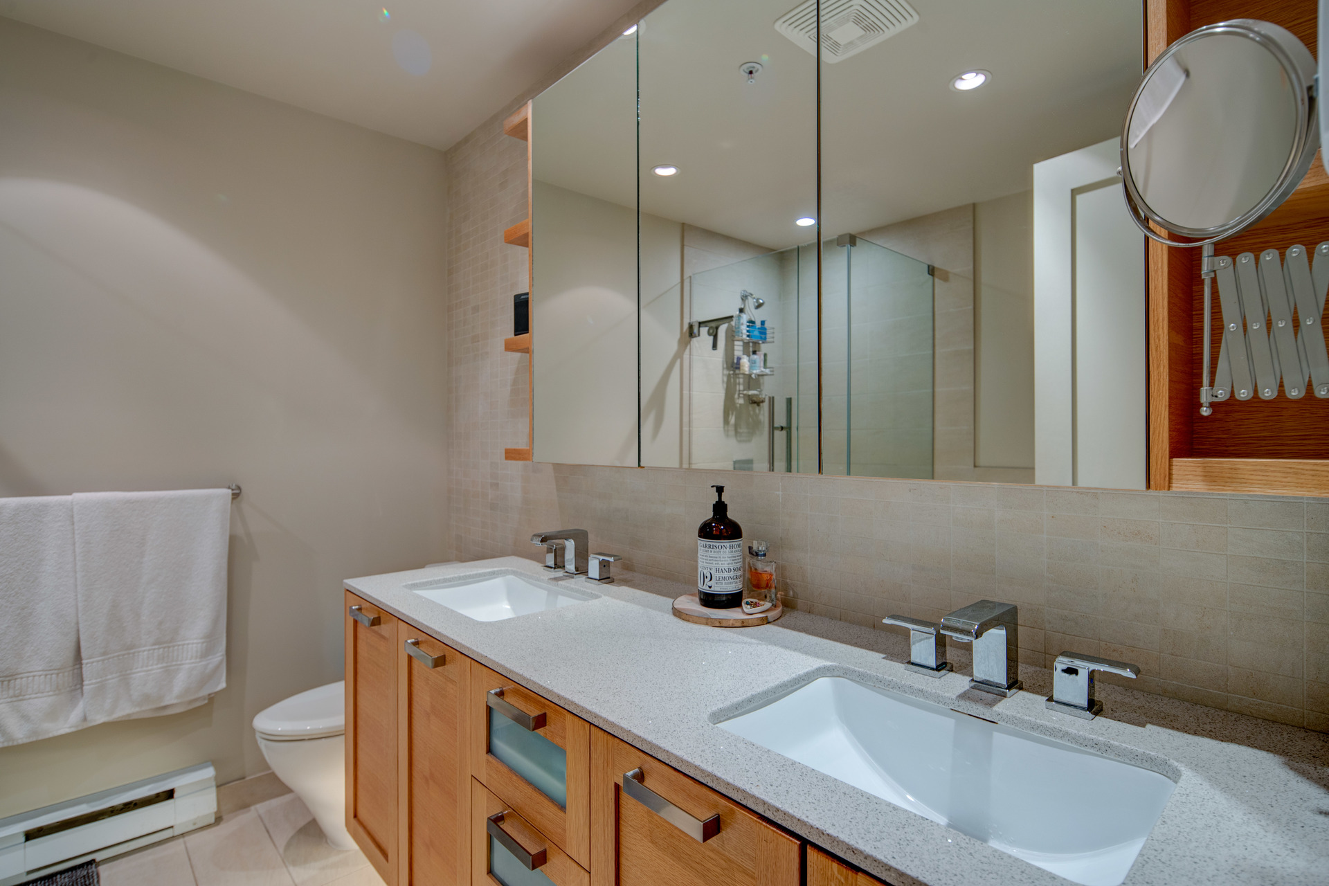 Master Ensuite With Dual Vanities at 115 - 365 Waterfront Crescent, Rock Bay, Victoria