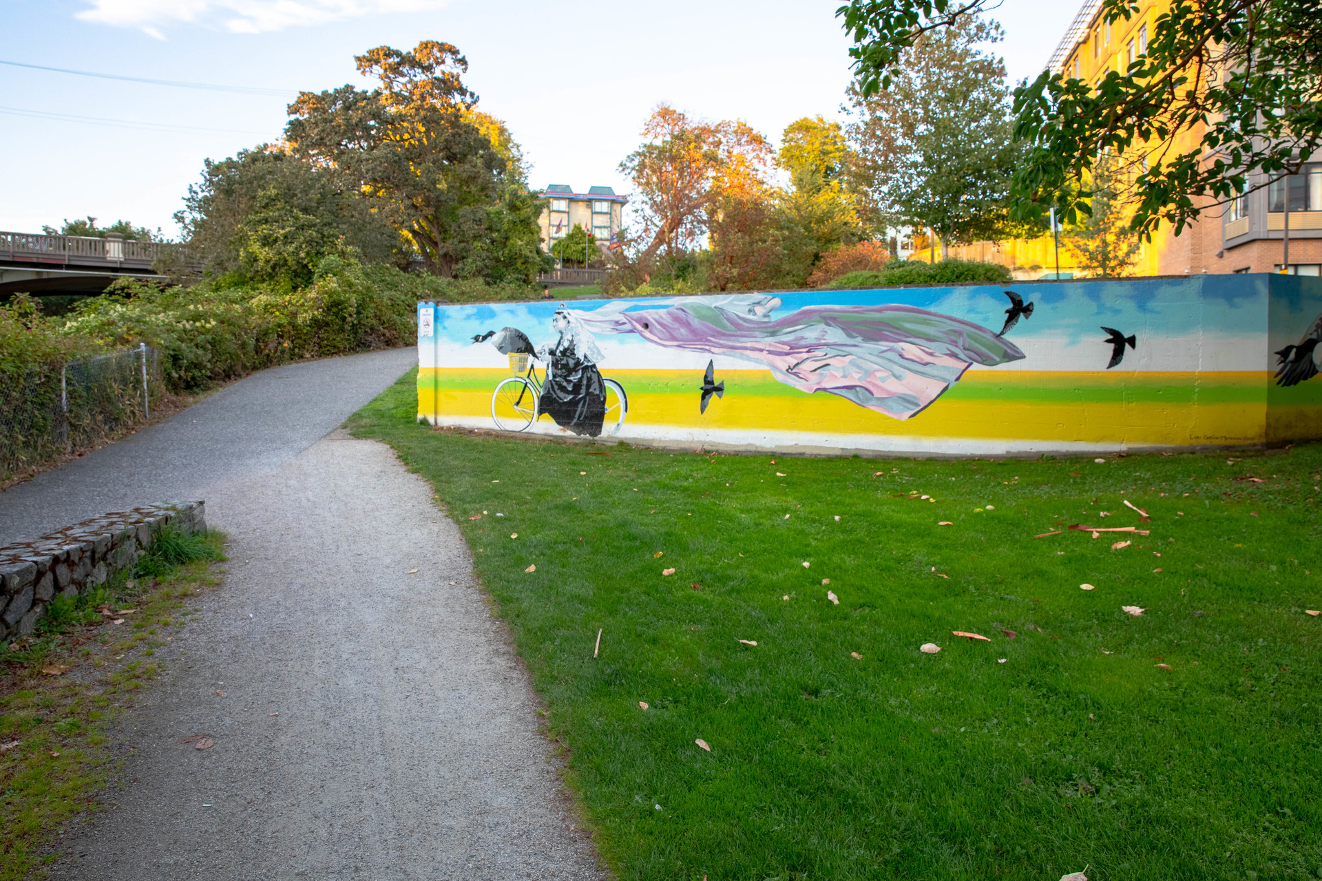 Mural & Bike Path Steps Away at 115 - 365 Waterfront Crescent, Rock Bay, Victoria