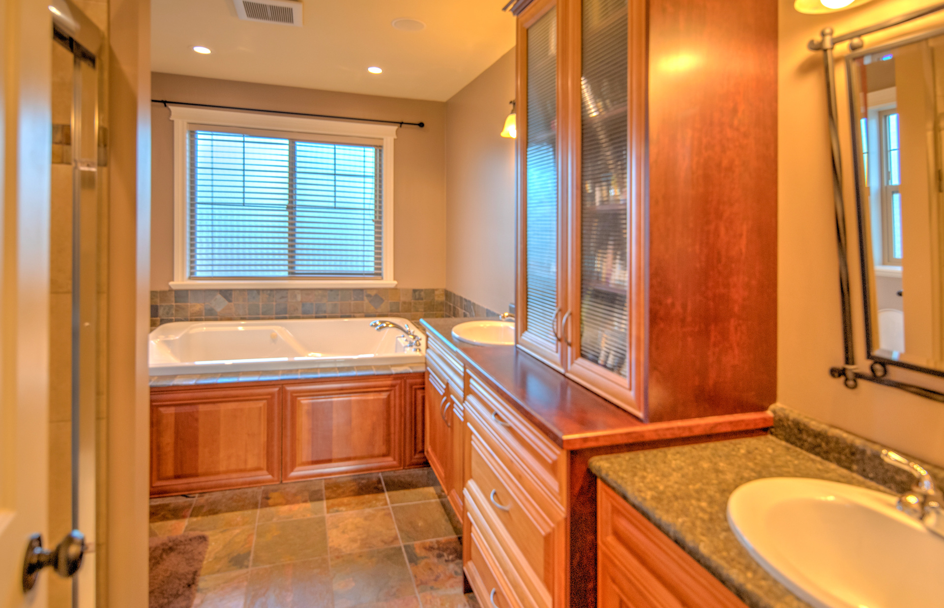 Master Ensuite With Dual Vanities, Jetted Tub, And Shower at 2741 Cornerstone Terrace, Mill Hill, Langford