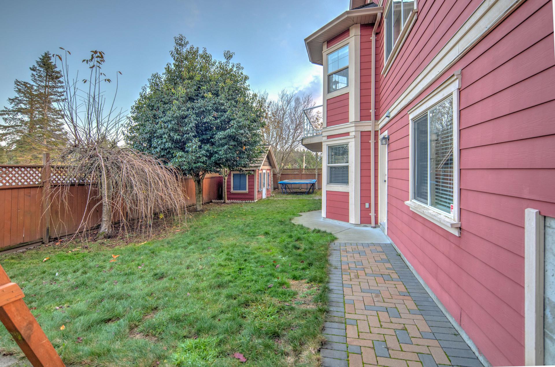 Fenced Backyard at 2741 Cornerstone Terrace, Mill Hill, Langford