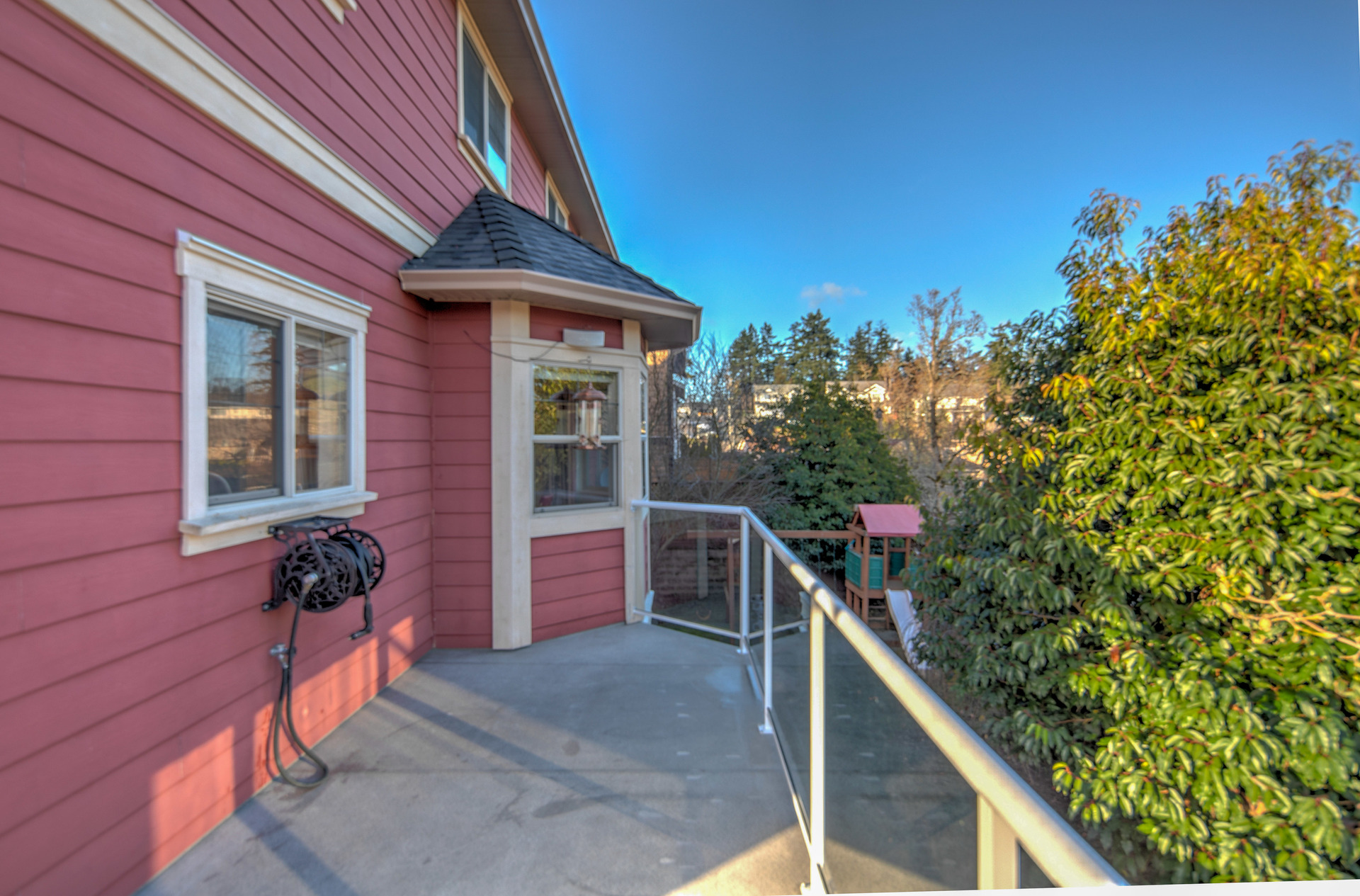 Balcony Overlooking The Backyard at 2741 Cornerstone Terrace, Mill Hill, Langford