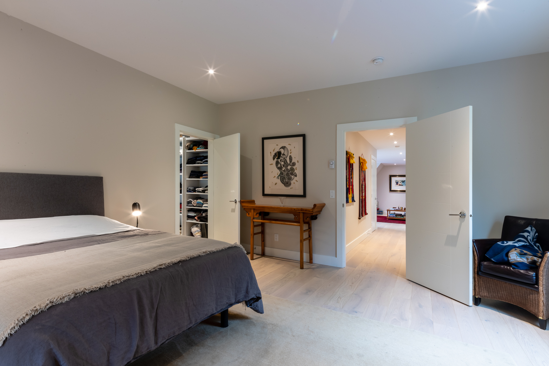 Master Bedroom at 377 Seymour Heights, Salt Spring, Gulf Islands