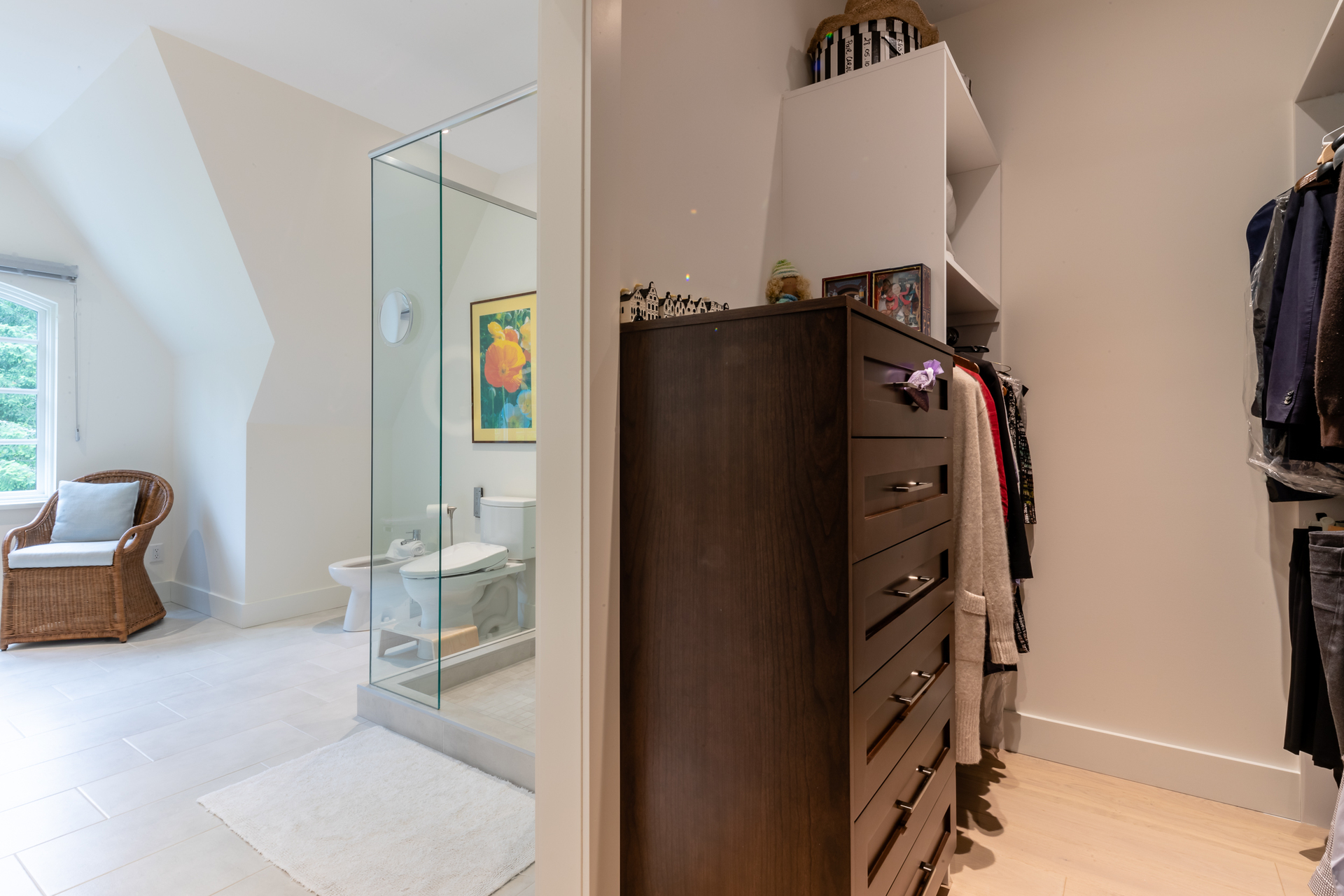 Master Walk-In Closet at 377 Seymour Heights, Salt Spring, Gulf Islands