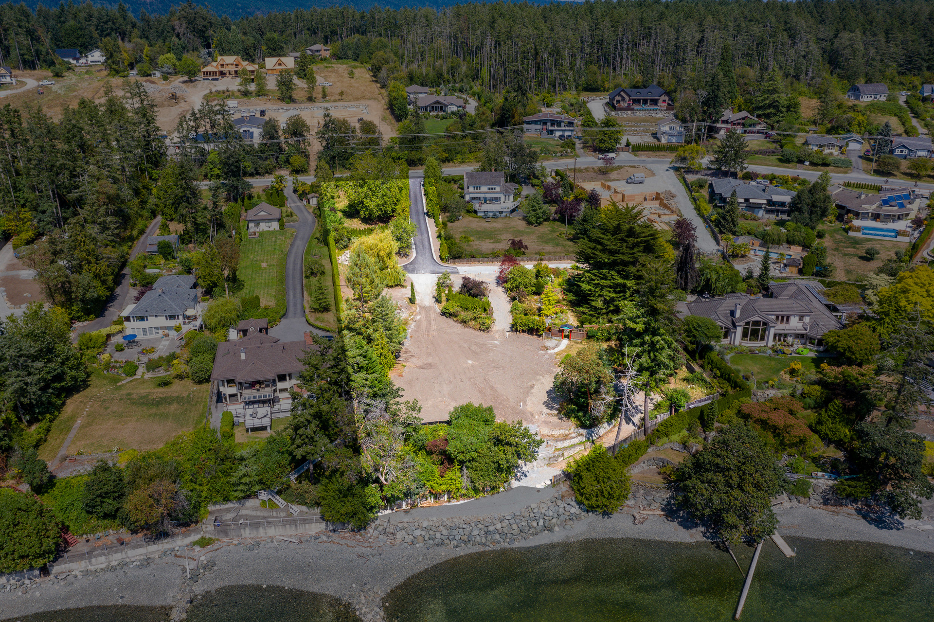 Full Parcel Including Two Waterfront Lots & Common Property at 11328 & 11332 Chalet Road, Deep Cove, North Saanich