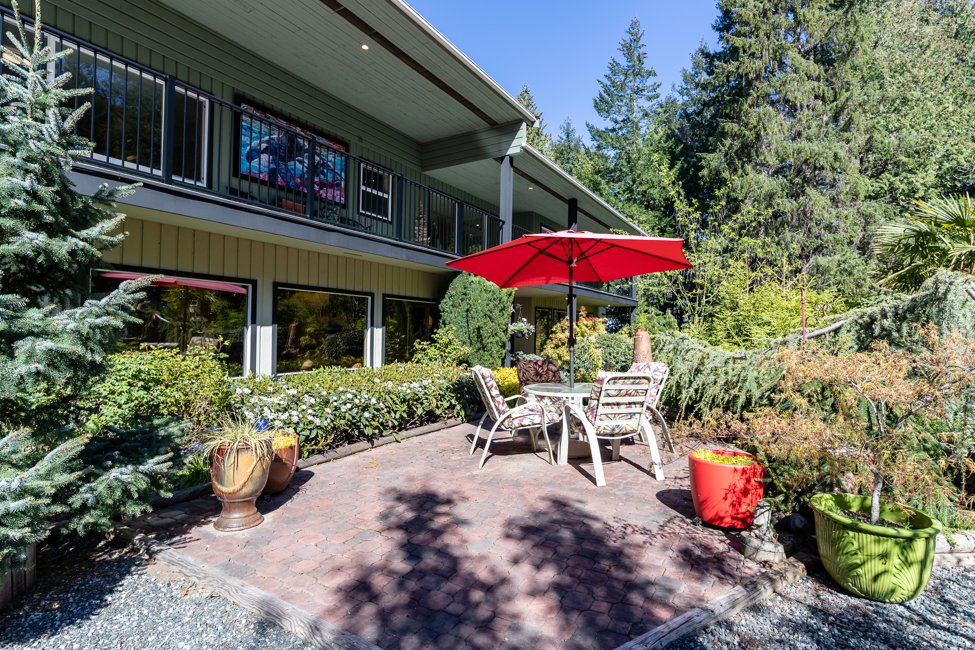 Front Courtyard at 5101 Island Highway West, Qualicum North, Oceanside