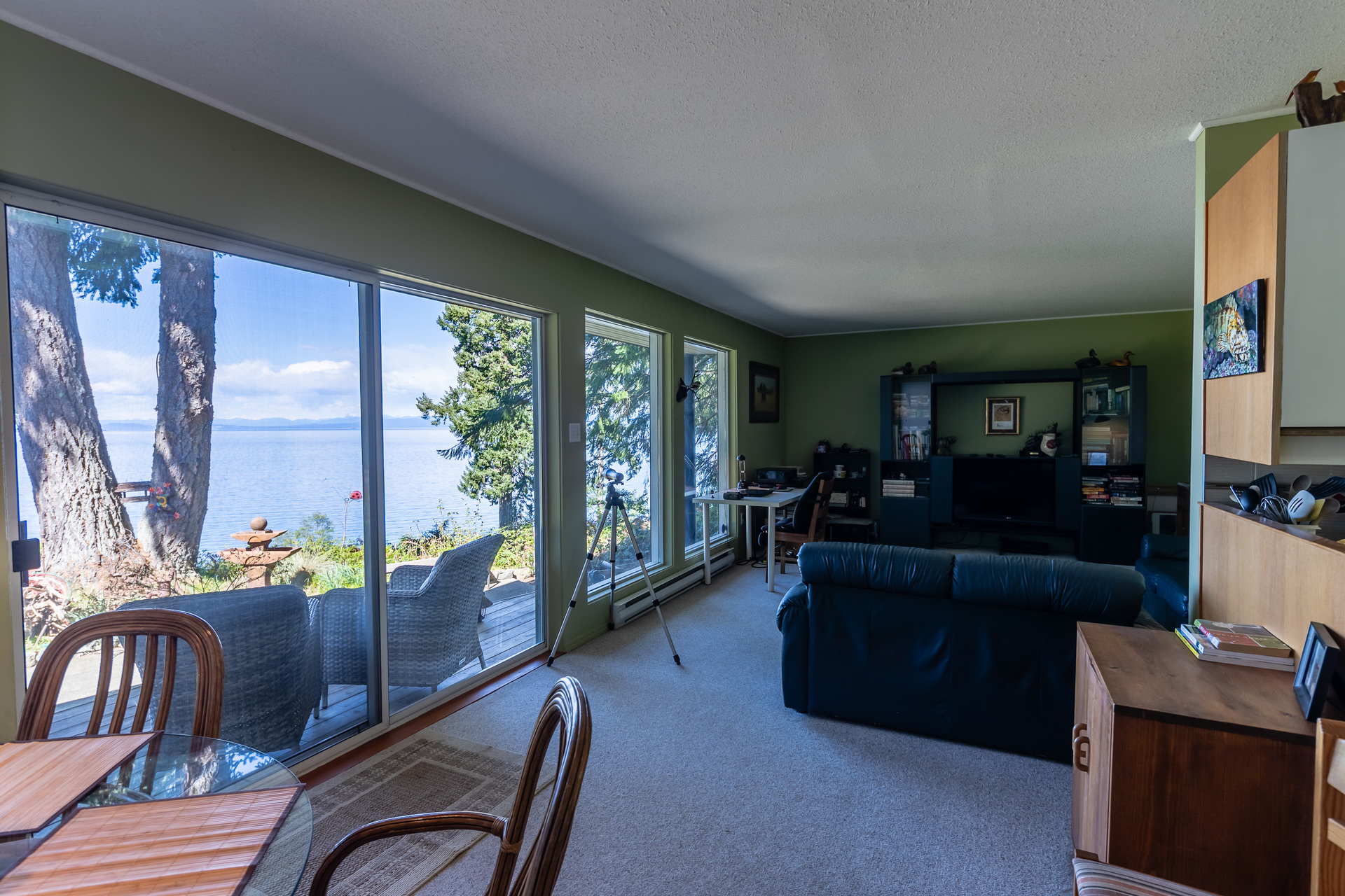 Lower Guest Suite Living/Dining Area at 5101 Island Highway West, Qualicum North, Oceanside