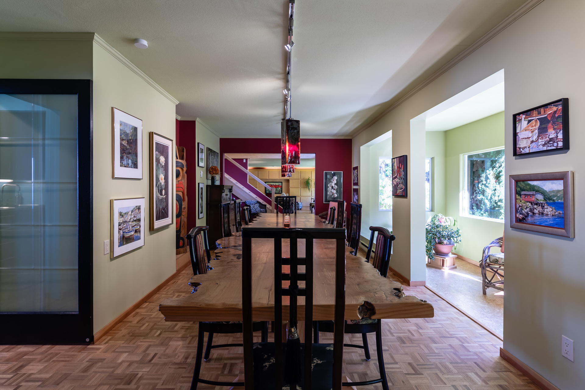 Main Ground Floor Dining Room at 5101 Island Highway West, Qualicum North, Oceanside