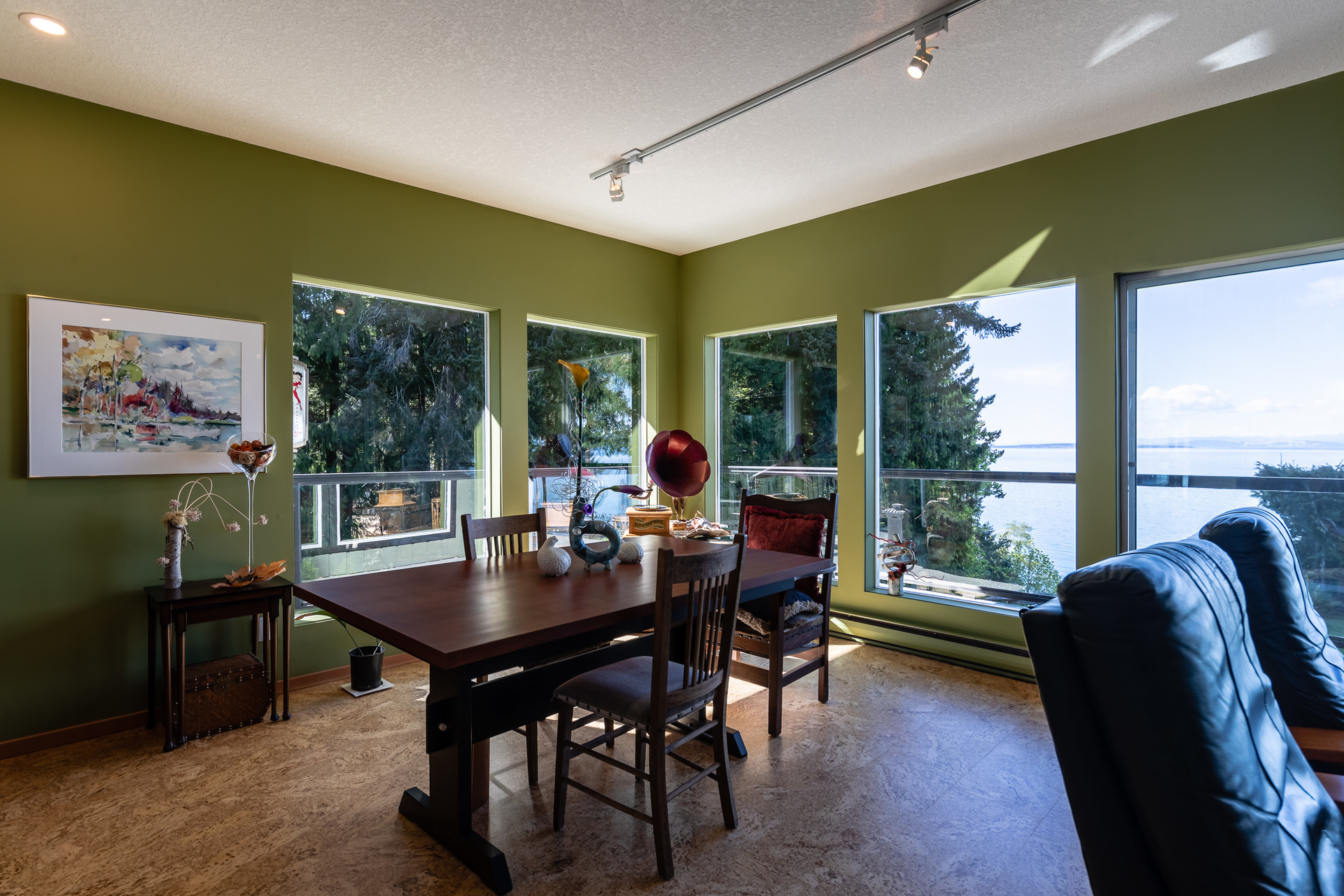 First Master Suite Dining Area at 5101 Island Highway West, Qualicum North, Oceanside