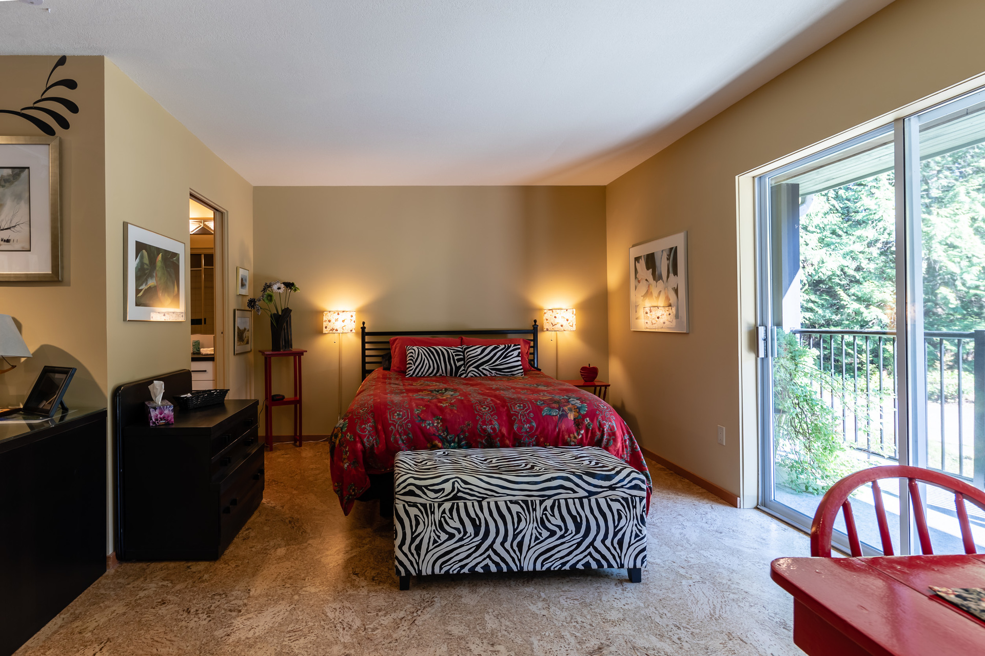Second Master Suite Guest Bedroom at 5101 Island Highway West, Qualicum North, Oceanside