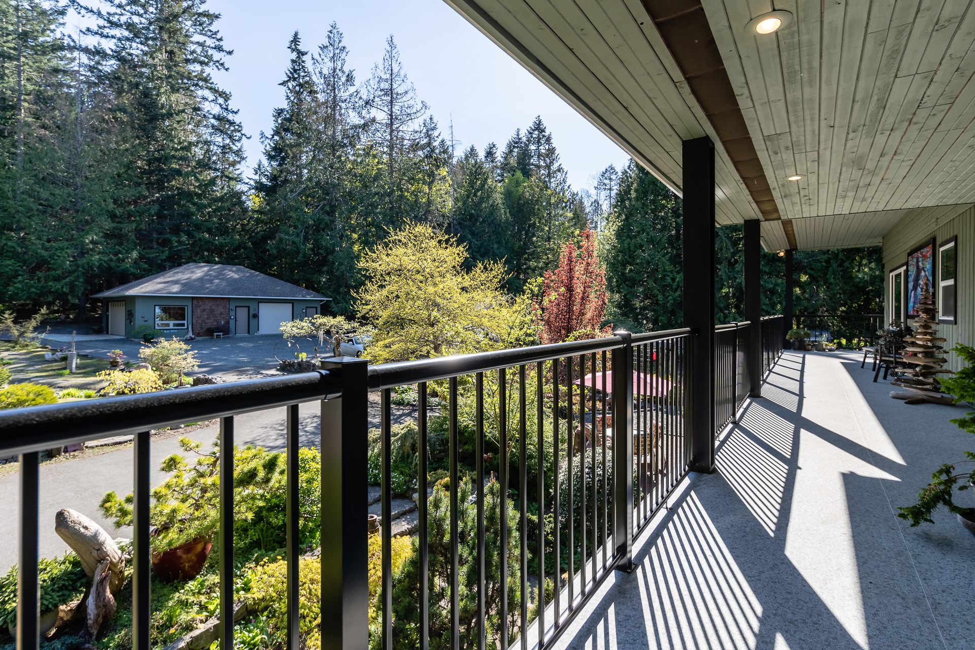 South Wraparound Balcony at 5101 Island Highway West, Qualicum North, Oceanside