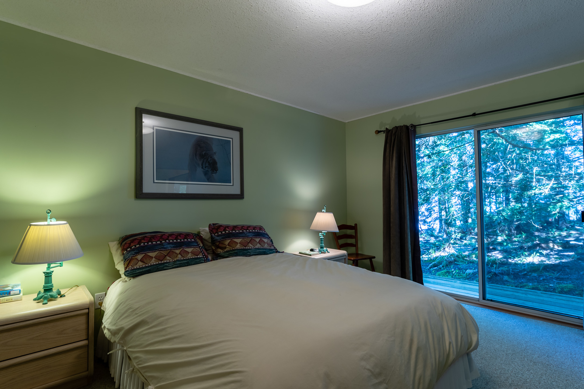 Upper Guest Suite Bedroom at 5101 Island Highway West, Qualicum North, Oceanside