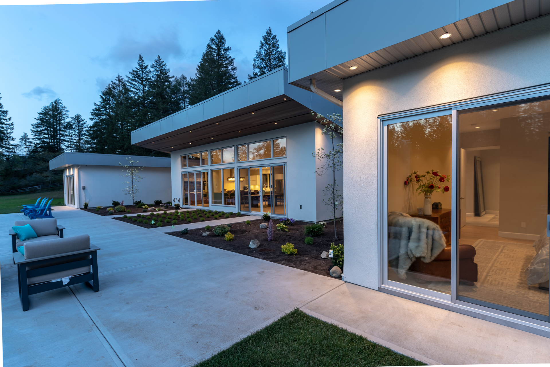 Exterior Lighting On The Westerly Patio at 5101 Jagtar's Way, Victoria, Vancouver Island,