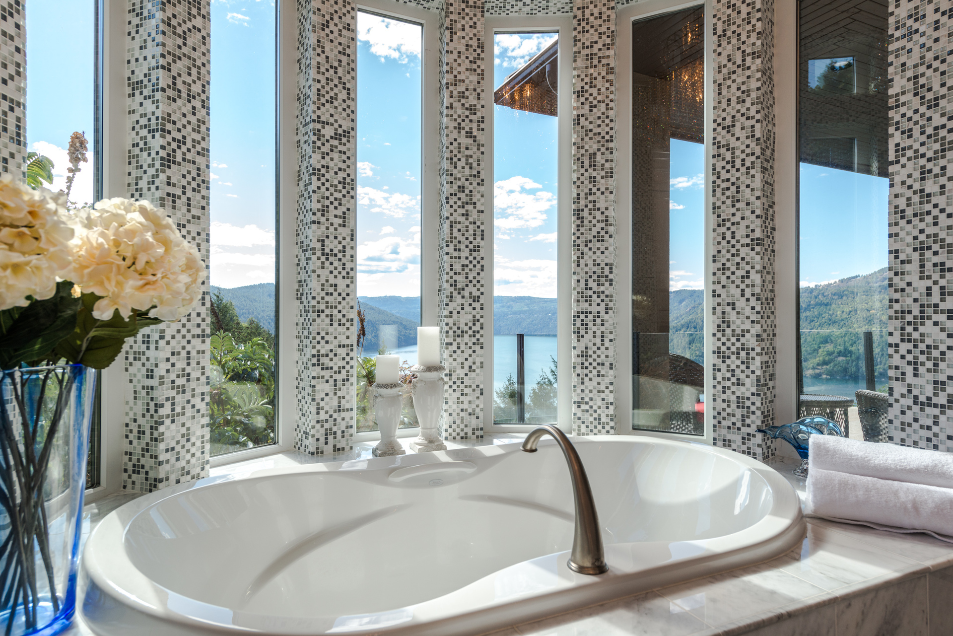 Incredible Views From The Master Bath at 6720 Willis Road, Victoria Point,
