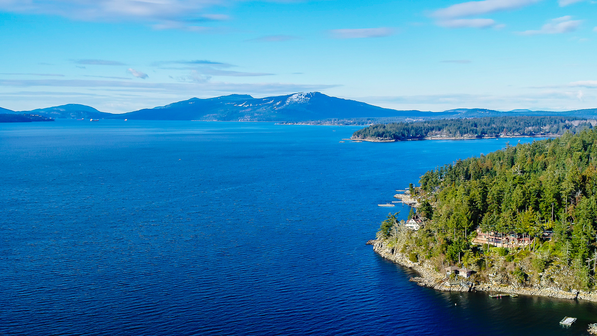 Views of Saltspring Island at 8100 Mcphail Road, Central Saanich, Bc,