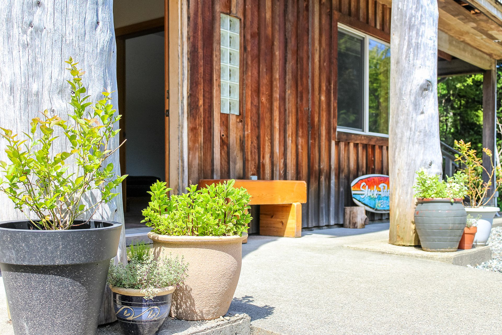 Front Entrance at 1430 Pacific Rim Highway, Tofino, Port Alberni and West Coast