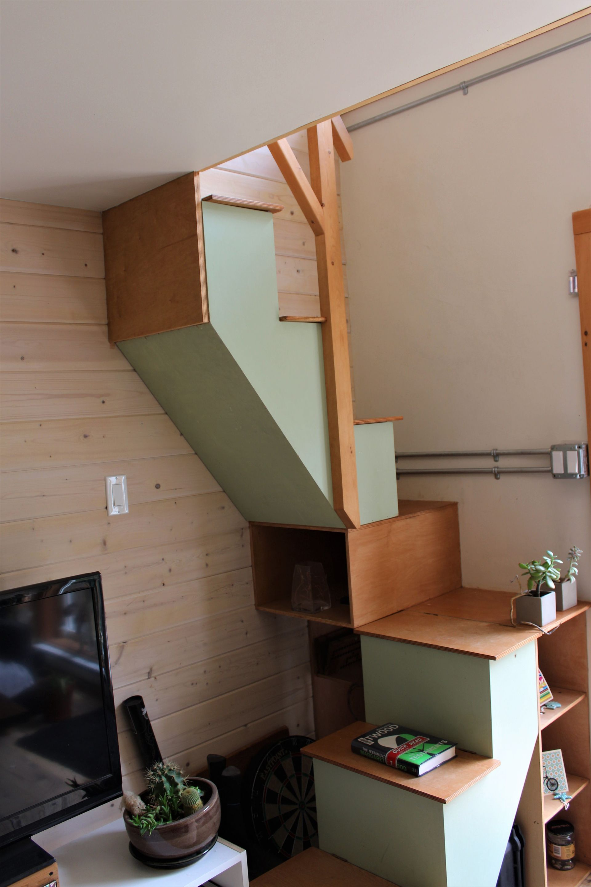 Stair in 2nd Tiny Home at 1430 Pacific Rim Highway, Tofino, Port Alberni and West Coast
