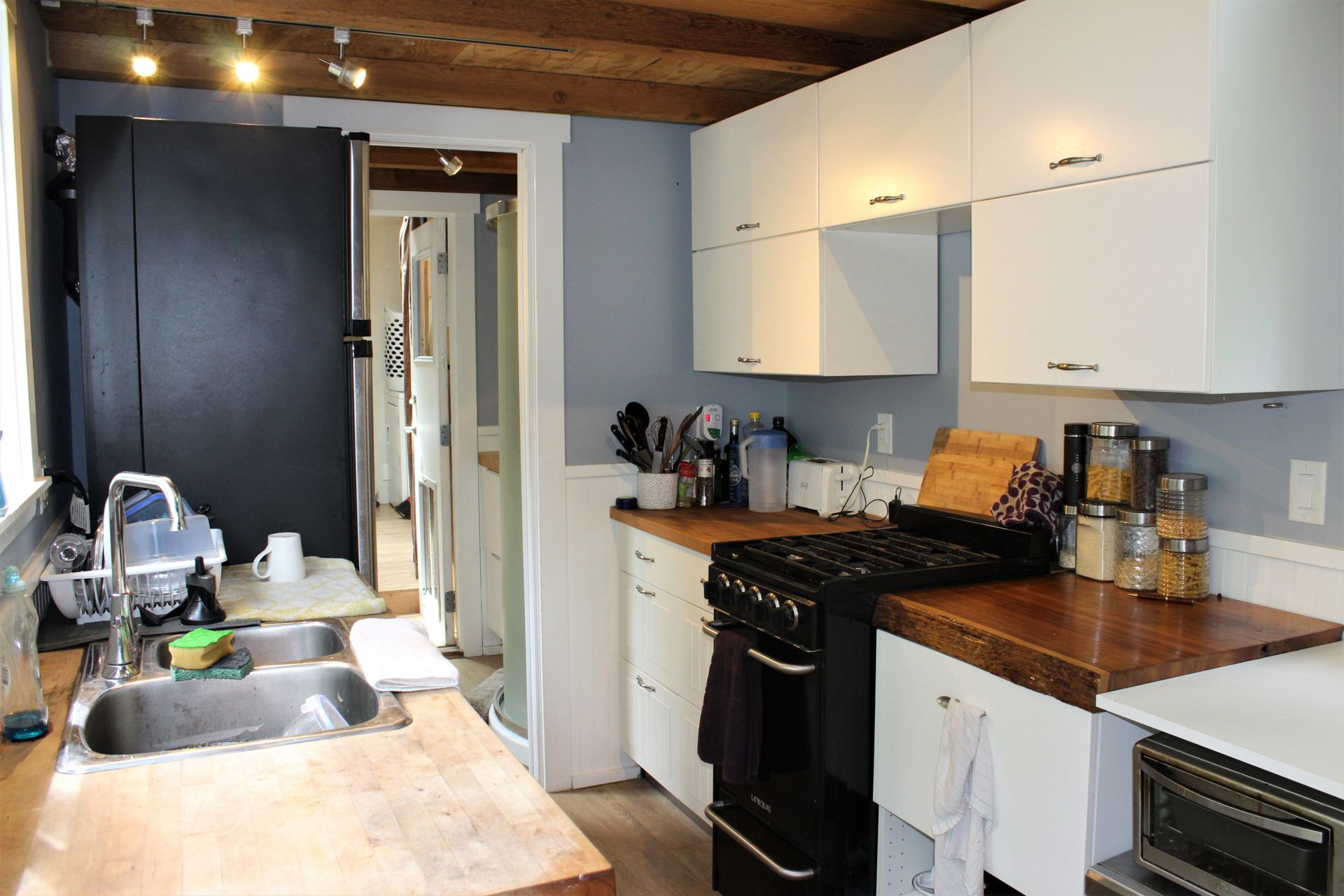 Kitchen of 2nd Tiny Home at 1430 Pacific Rim Highway, Tofino, Port Alberni and West Coast