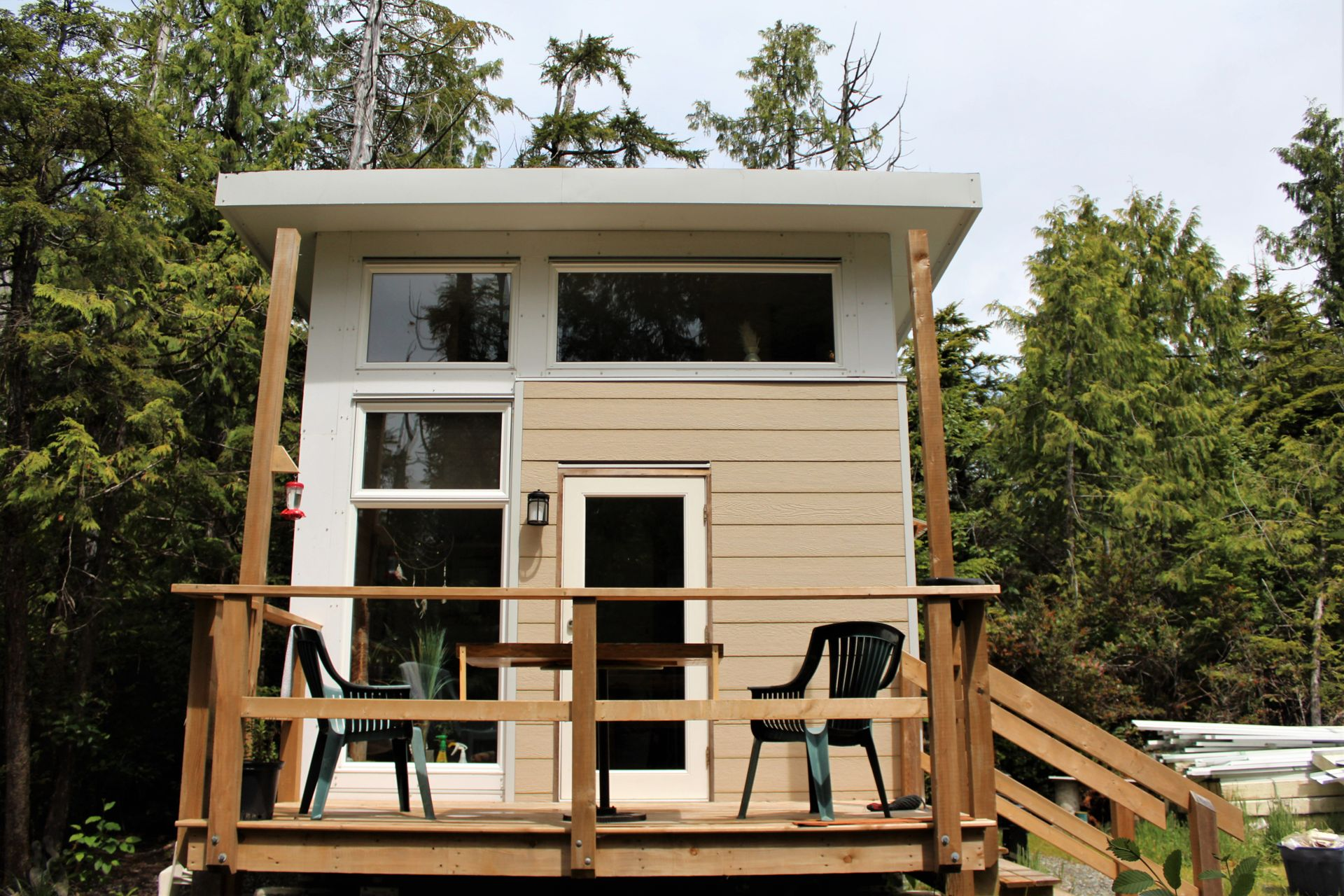 Back of 2nd Tiny Home  at 1430 Pacific Rim Highway, Tofino, Port Alberni and West Coast