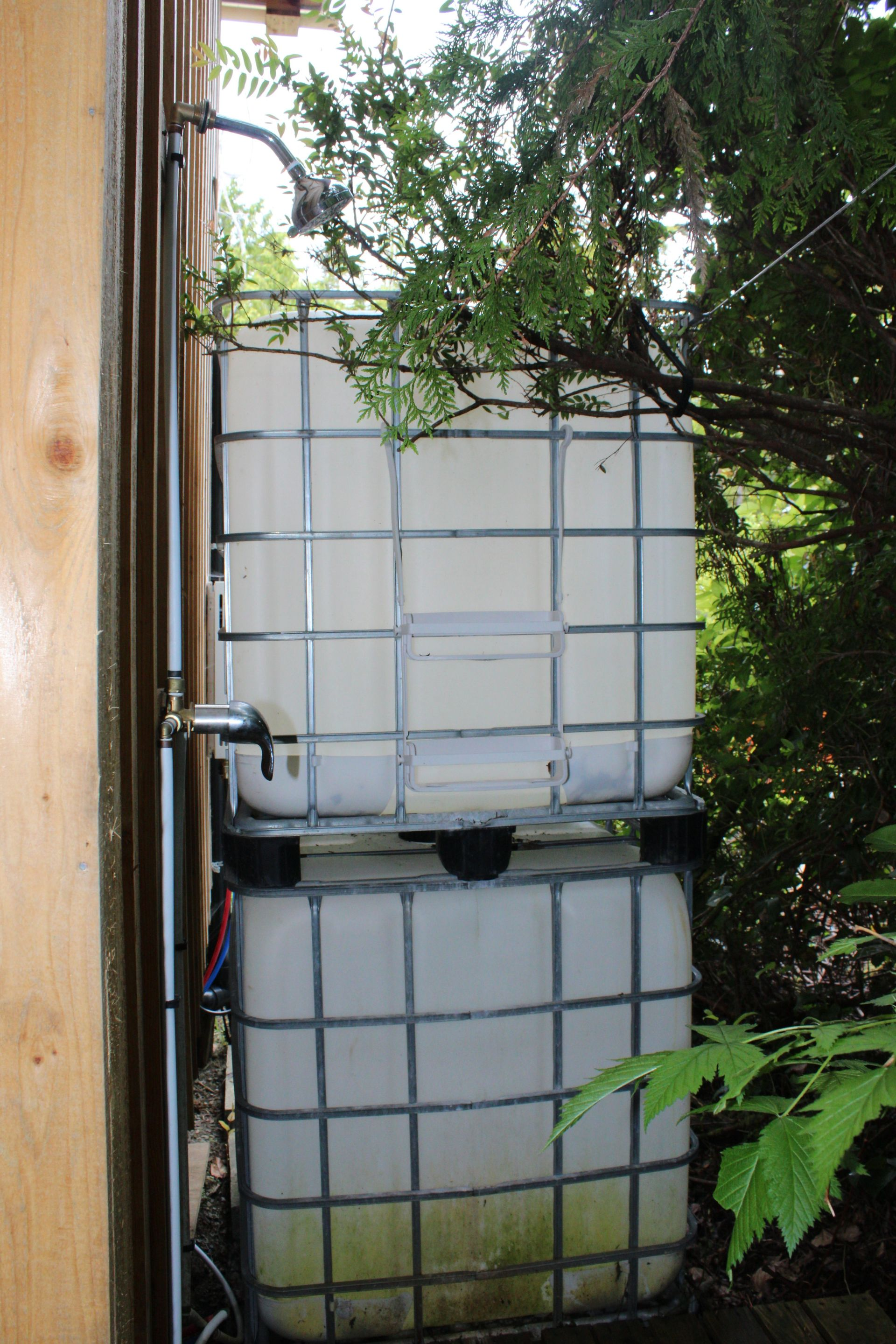Water Catchment System at 1st Tiny Home at 1430 Pacific Rim Highway, Tofino, Port Alberni and West Coast
