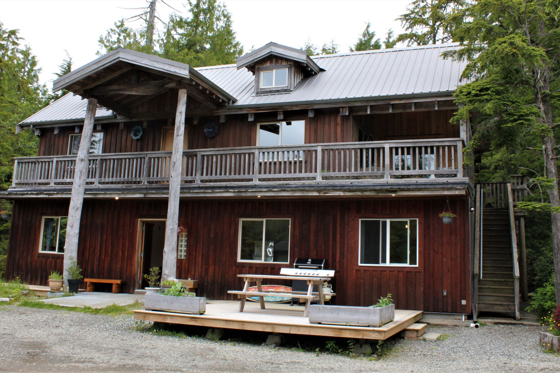 Front of Main Home at 1430 Pacific Rim Highway, Tofino, Port Alberni and West Coast