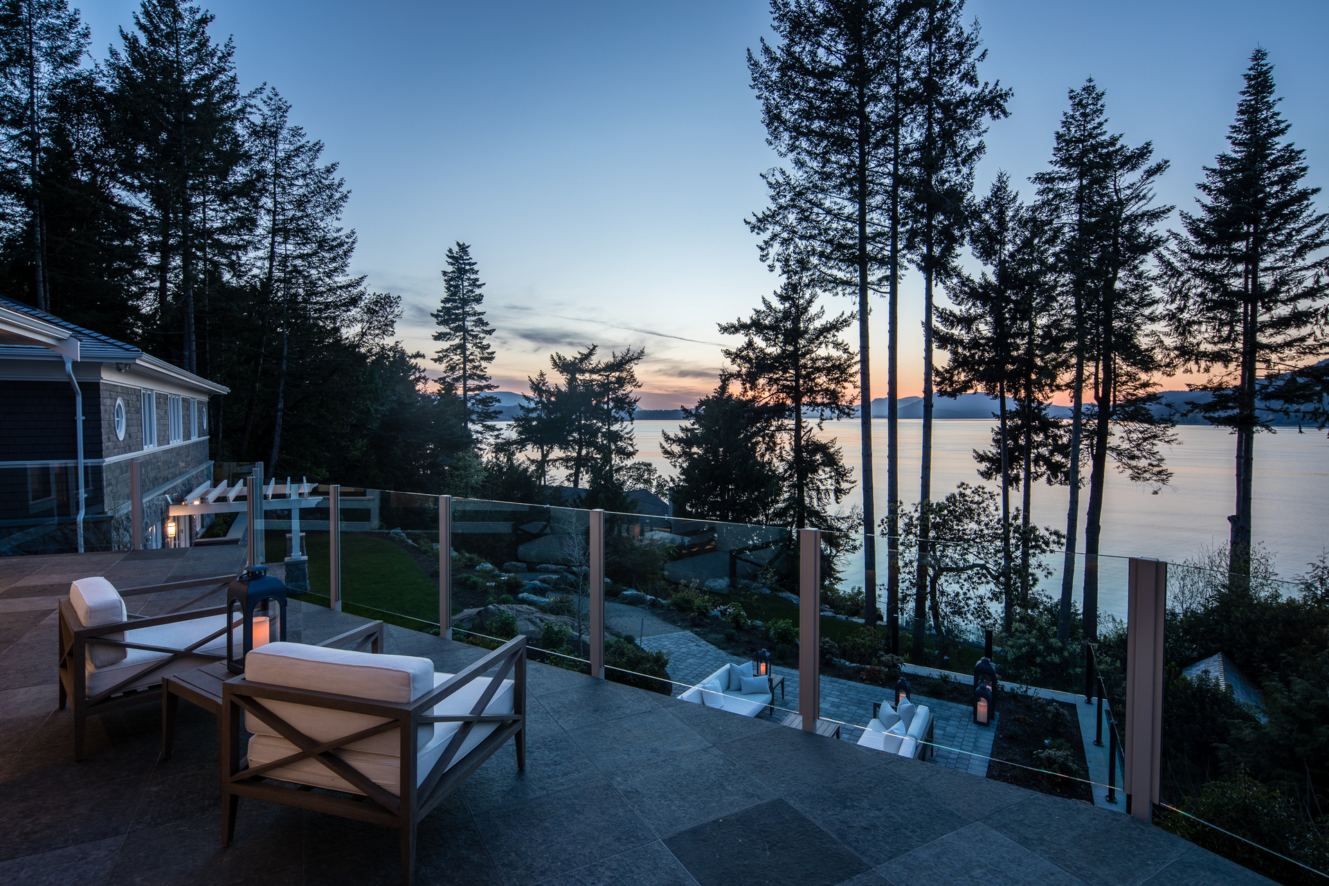 Main House Deck View at 518 North Lands End Road, Saanich Saanich, Vancouver Island