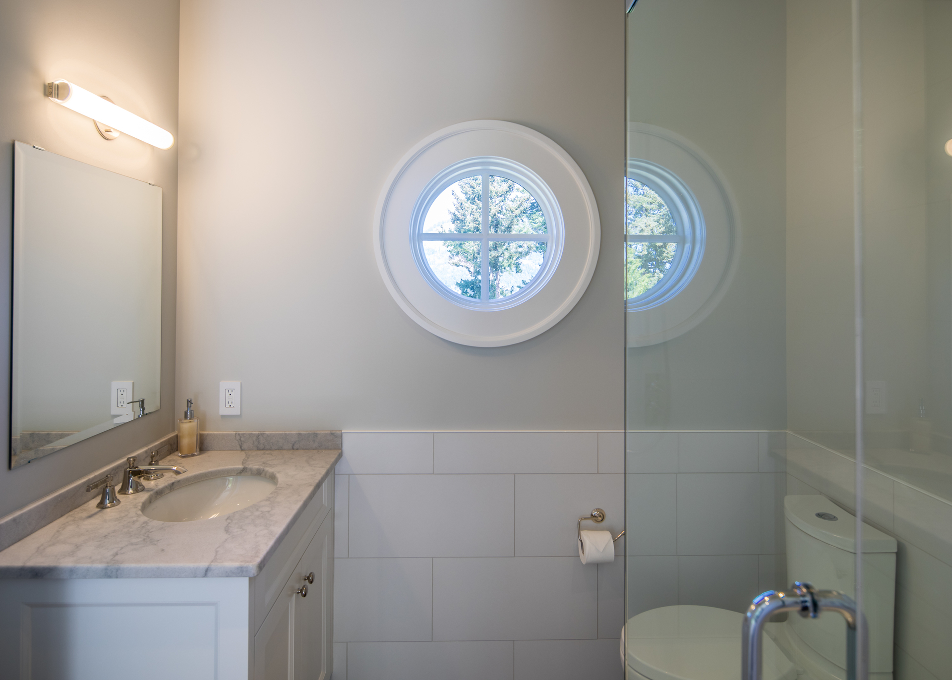 Guest House Half Bath at 518 North Lands End Road, Saanich Saanich, Vancouver Island