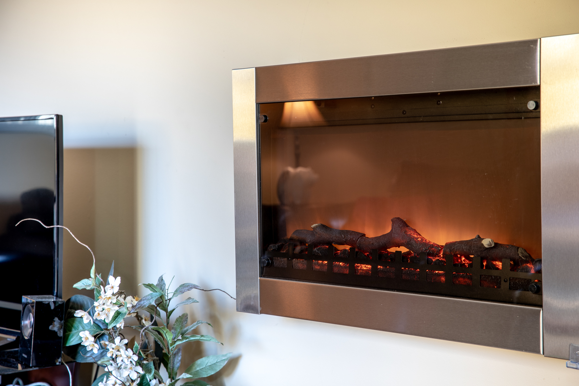 Wall Mount Electric Fireplace at 1545 North Dairy Road, Oaklands, Victoria Bc Bc,