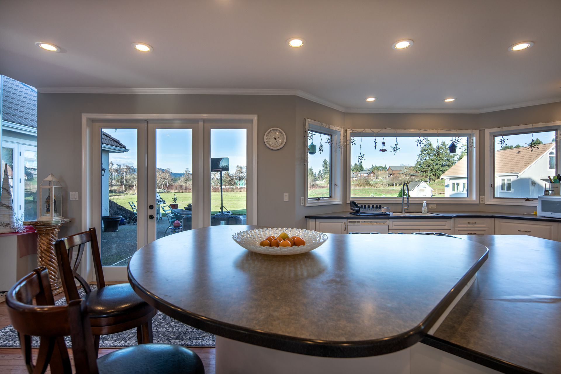 Naturally Lit Kitchen at 1950 Highfield Road, Central Saanich, Victoria Bc Bc,