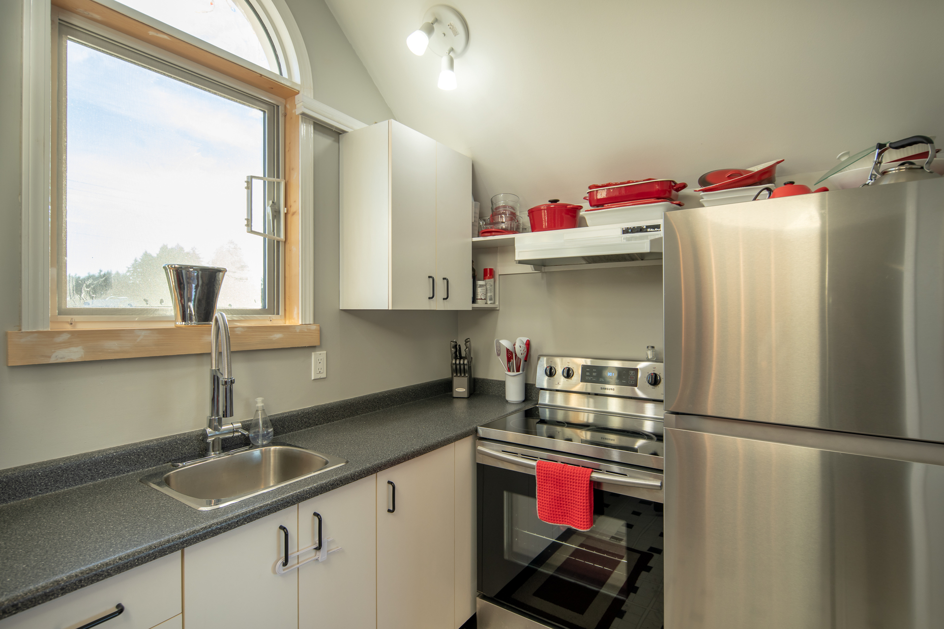 Guest House Kitchen at 1950 Highfield Road, Central Saanich, Victoria Bc Bc,