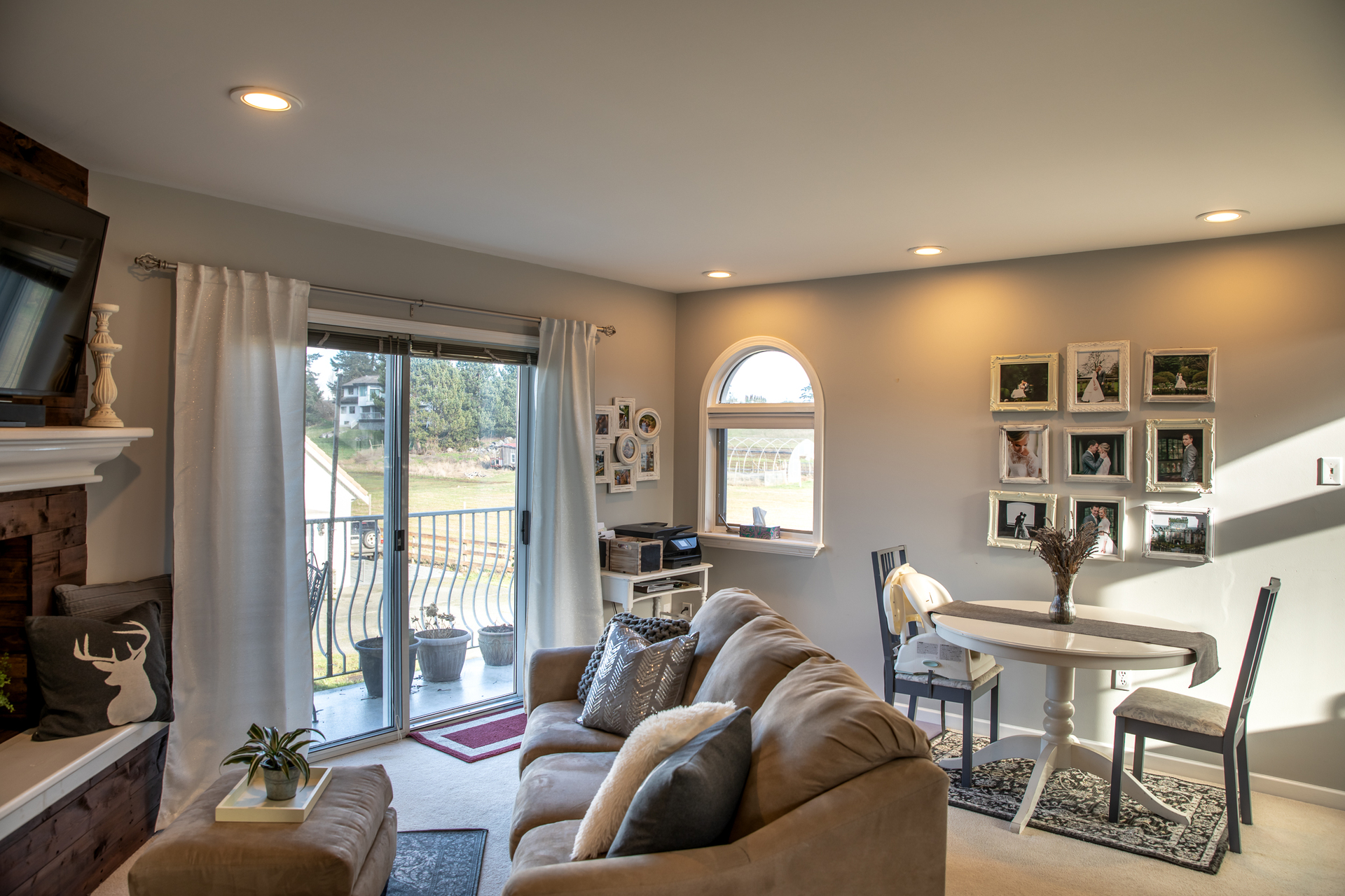 Nanny Suite Living Room at 1950 Highfield Road, Central Saanich, Victoria Bc Bc,