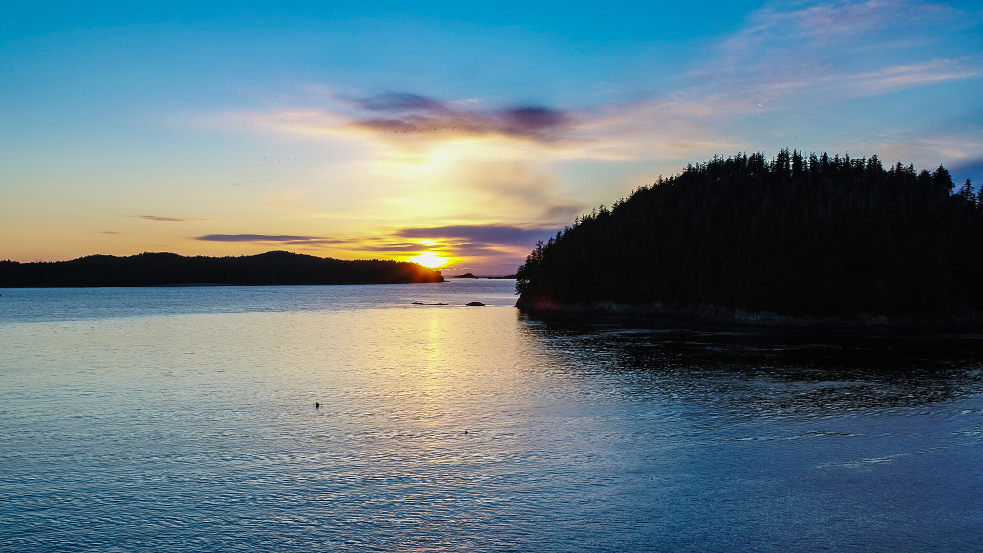 Sunset at 210 Neill Street, Tofino, Port Alberni and West Coast