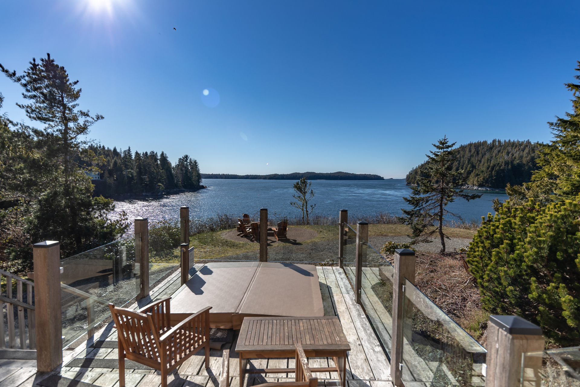 View from the deck at 210 Neill Street, Tofino, Port Alberni and West Coast