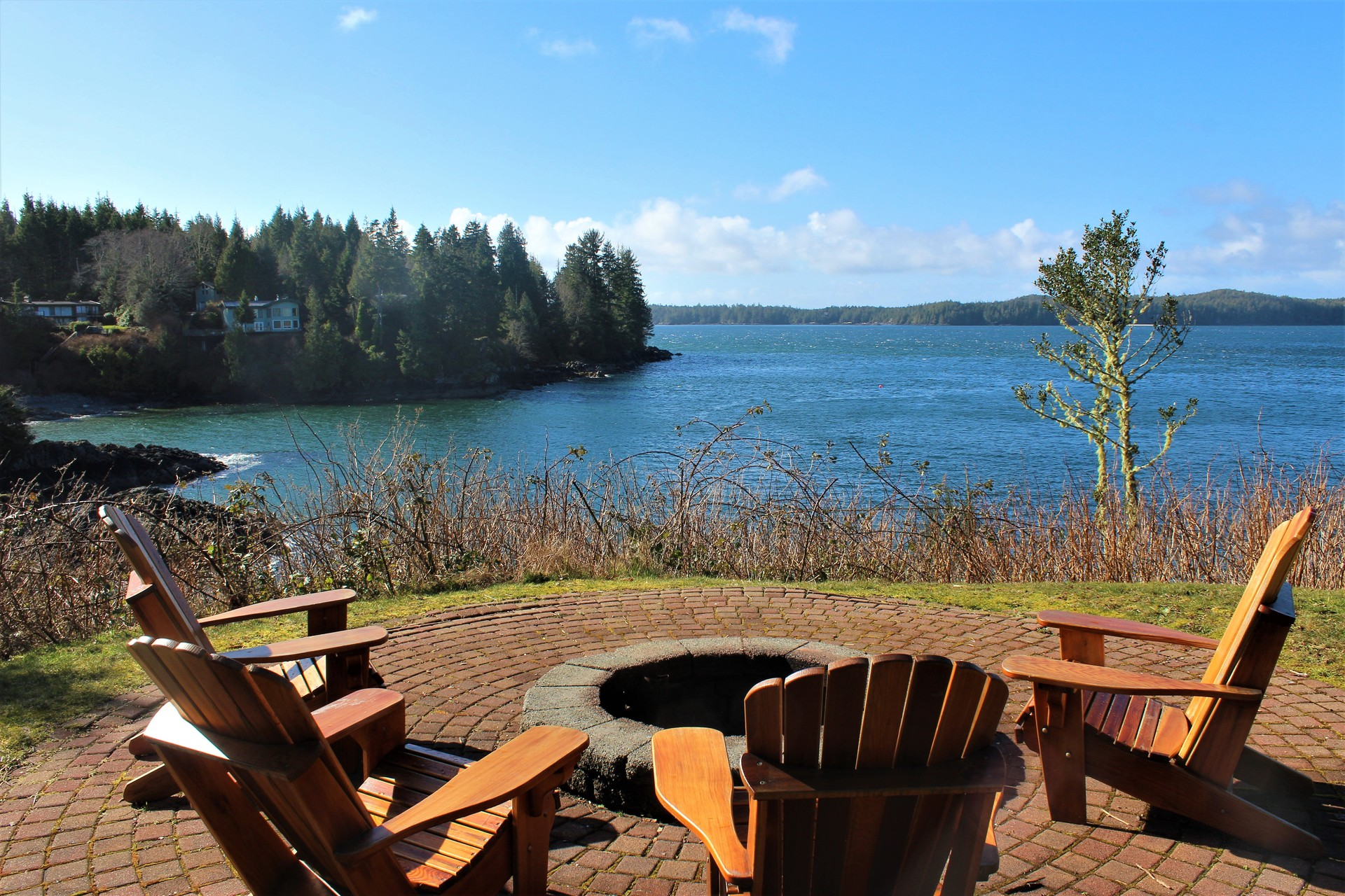 Waterfront Patio at 210 Neill Street, Tofino, Port Alberni and West Coast