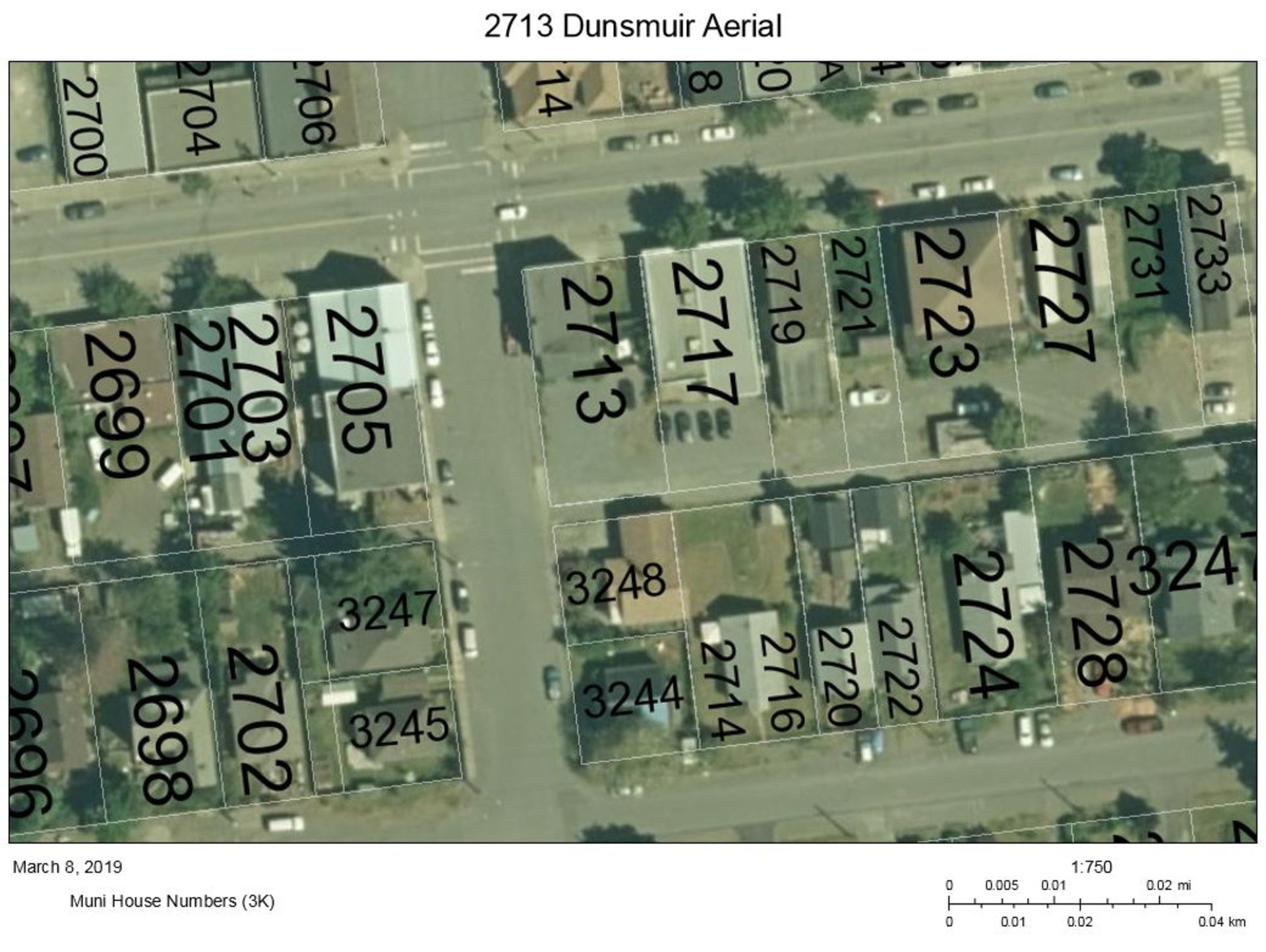 2713-dunsmuir-aerial at 2713 Dunsmuir Avenue, Cumberland, Comox Valley