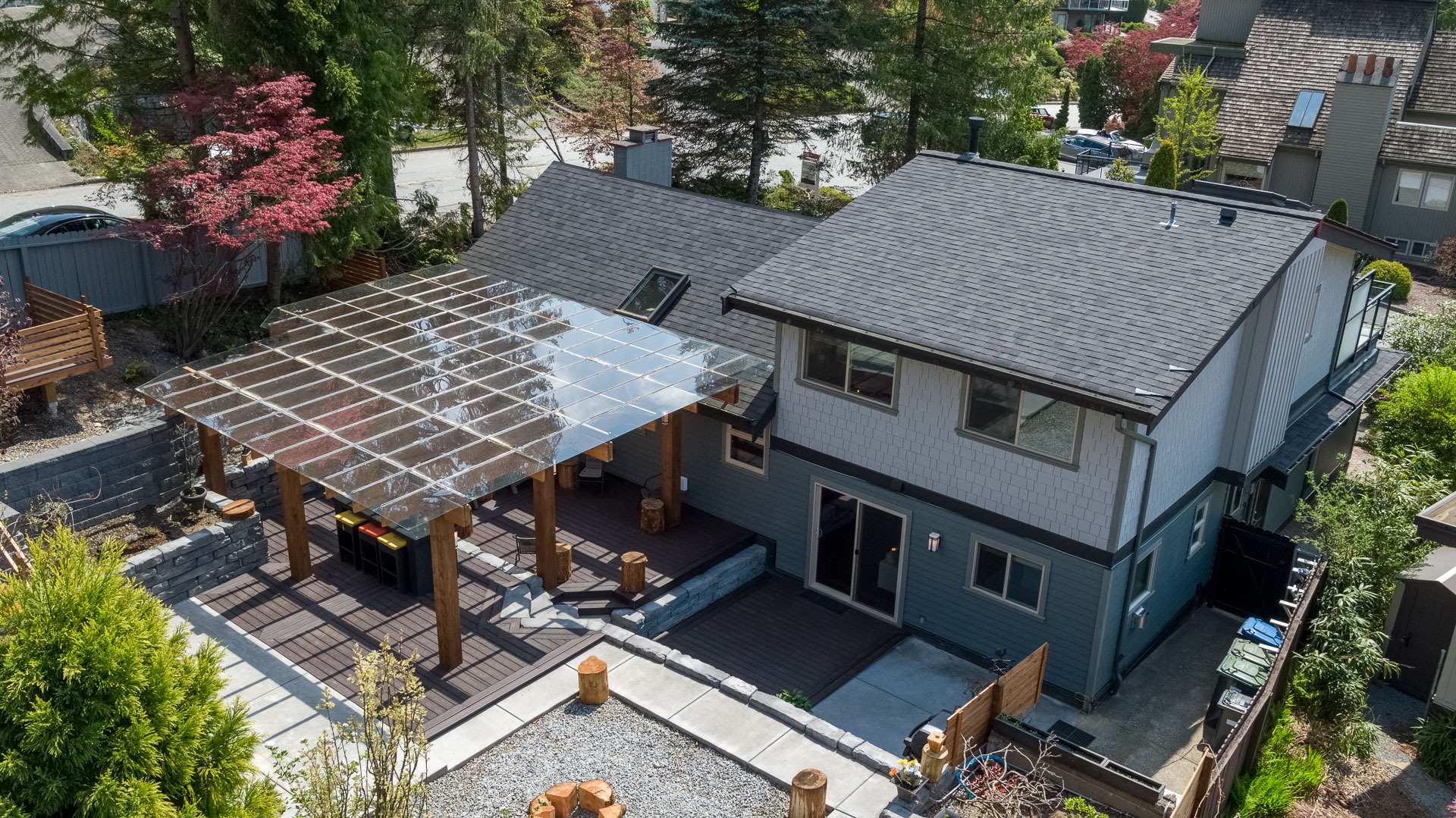 183-roe-dr-aerial-360hometours-12s at 183 Roe Drive, Barber Street, Port Moody