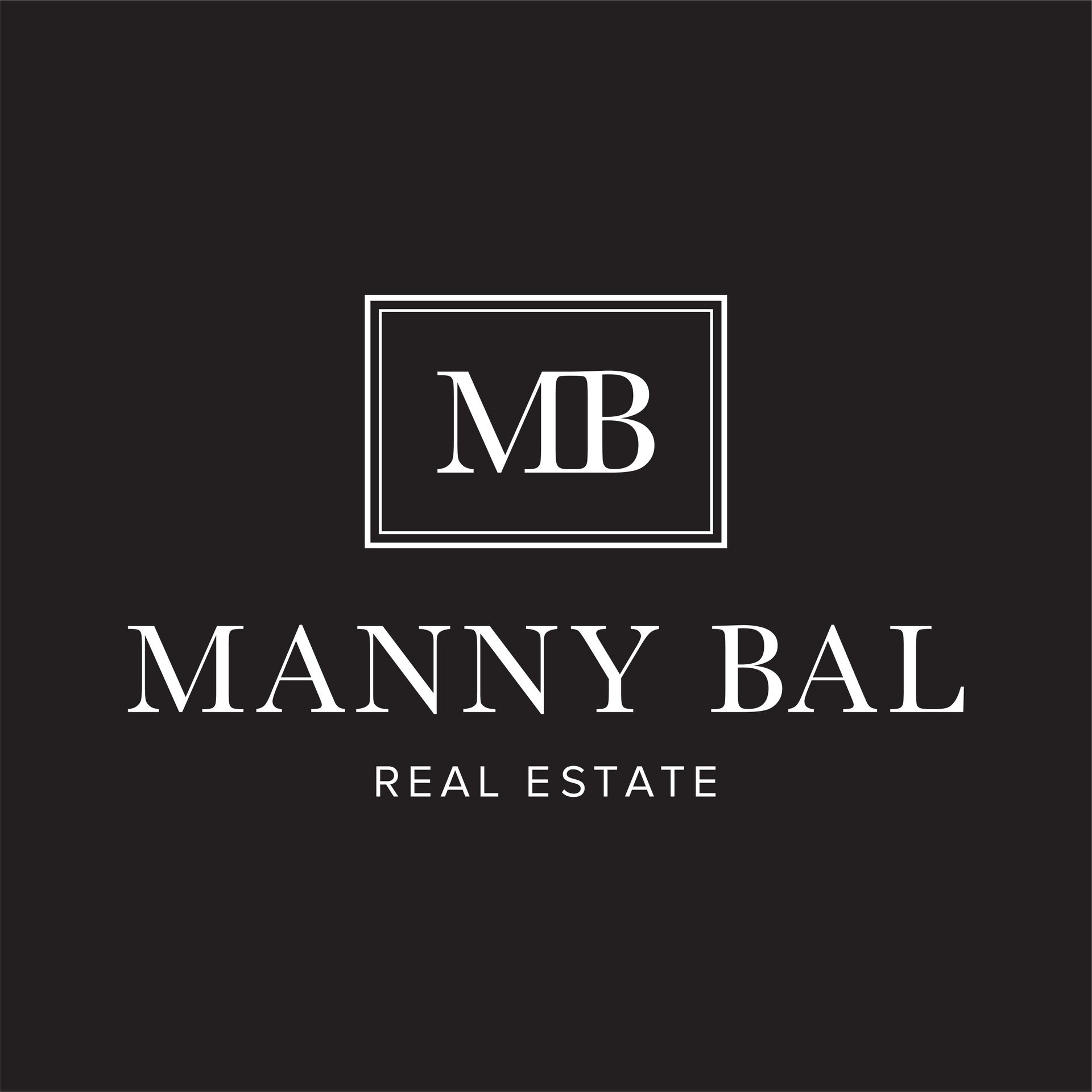 mannybal_logo_vertical_blackbg at 6699 Dunblane Avenue, Burnaby South