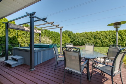Backyard Patio at 34943 Cassiar Avenue, Abbotsford East, Abbotsford