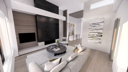 living-room-rendering at 530 Clifton Court, Kelowna, Central Okanagan