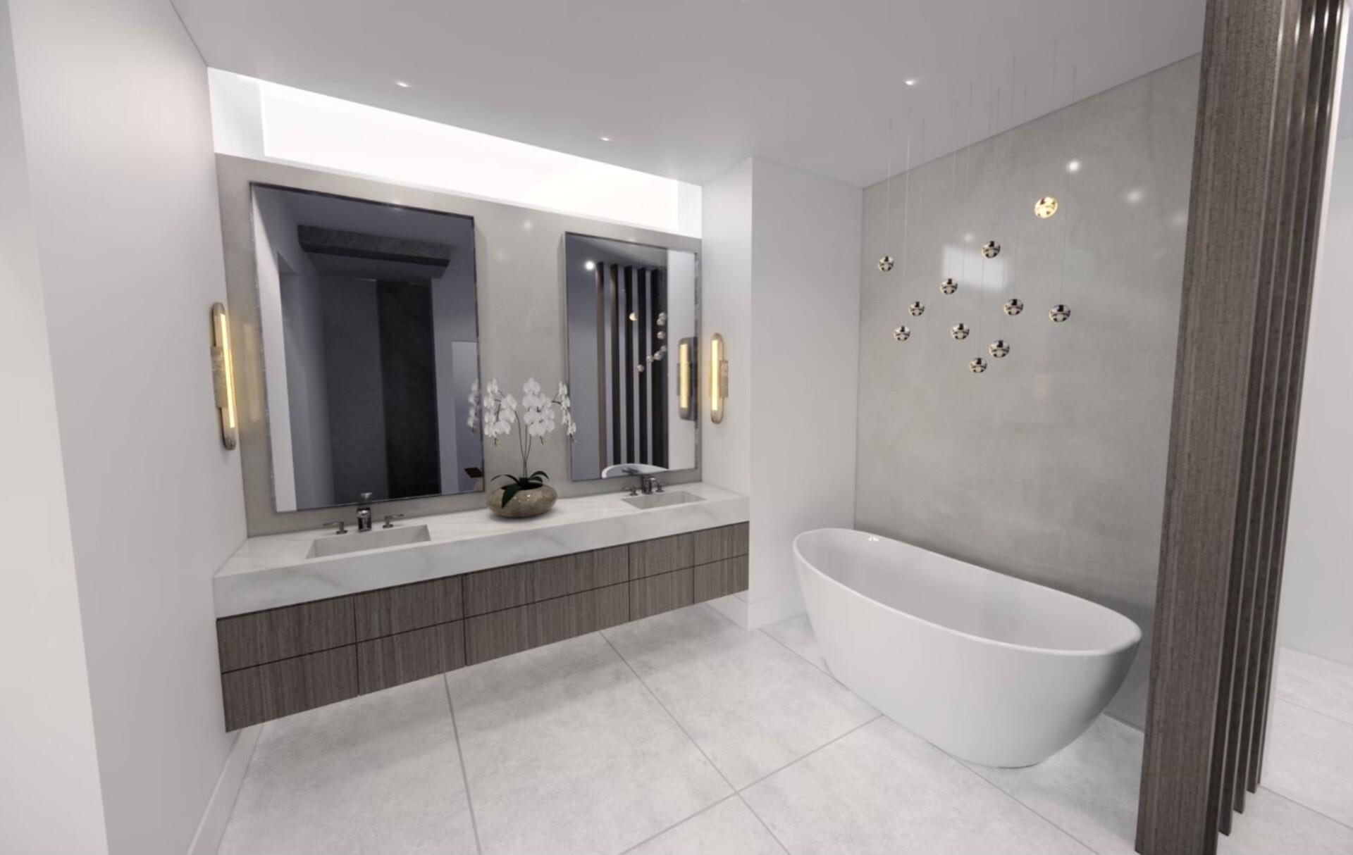 bathron-rendering at 530 Clifton Court, Kelowna, Central Okanagan