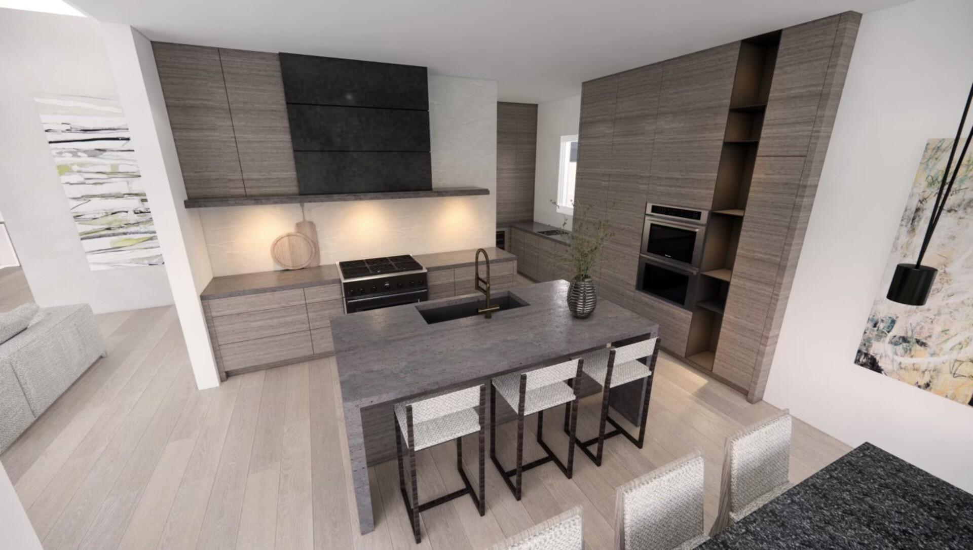 kitchen-rendering at 530 Clifton Court, Kelowna, Central Okanagan