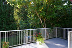 Private back deck with massive fig tree at  , Sechelt District, Sunshine Coast