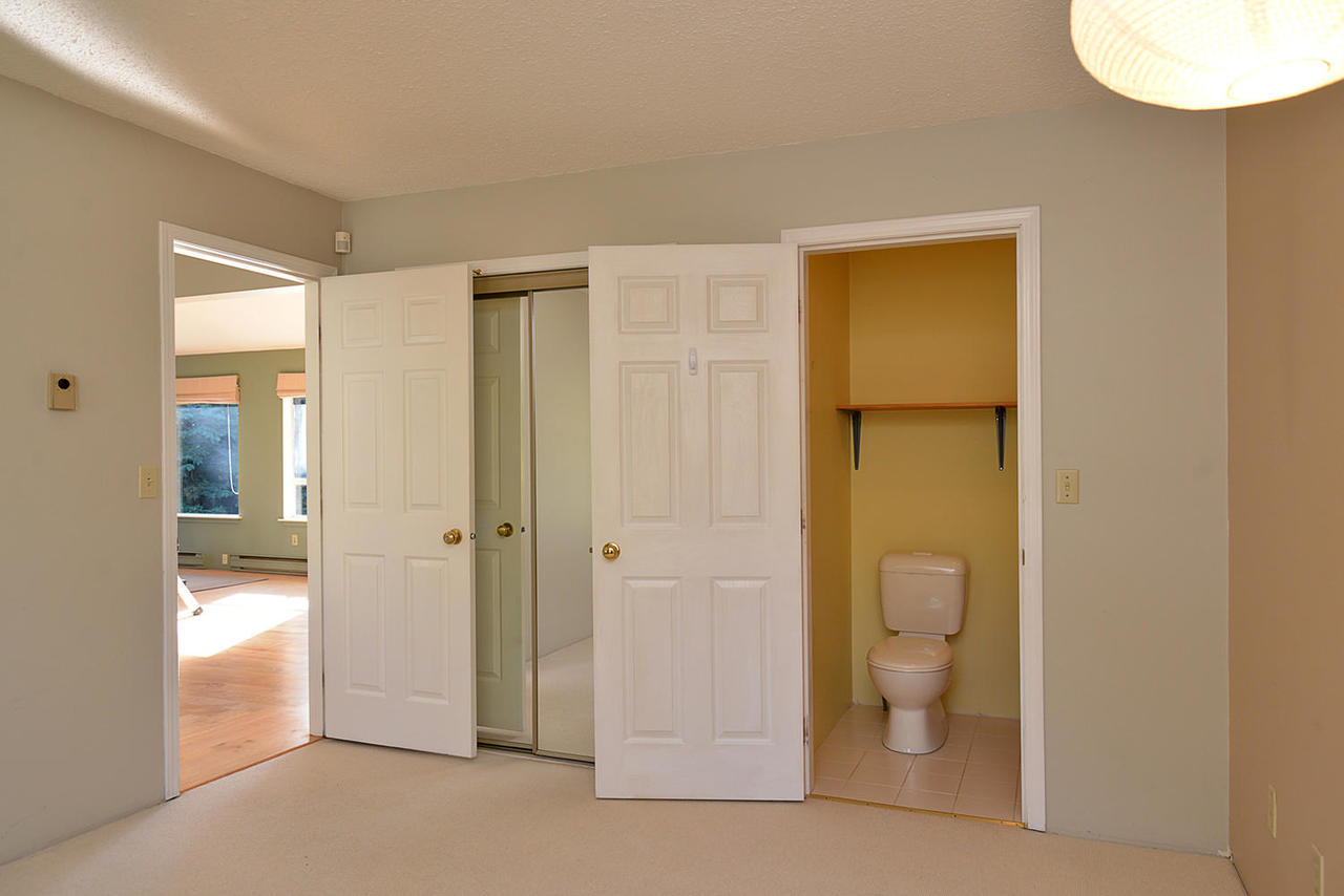 Large Closet in the Master with 2 piece Bathroom at  , Sechelt District, Sunshine Coast